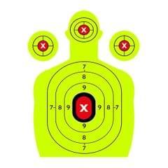 10x Adhesive Shooting Targets Reactive Splatter Paper Target Stickers Green