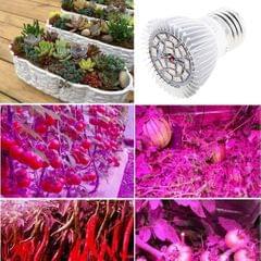 LED Plant Grow Lamp Bulb for Hydroponic Greenhouse E14 18W Full Spectrum
