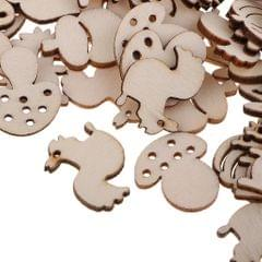 100 Wooden Embellishments Craft Unfinished Wooden Hanging DIY Forest Series