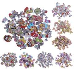 50pcs Mixed Cartoon Animal Wood Buttons for Sewing Scrapbooking  Multi-style