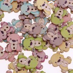 50pcs Mixed Cartoon Animal Wood Buttons for Sewing Scrapbooking  Bear