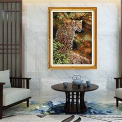 Dimensions Needlecrafts Stamped Cross Stitch Leopard Animal Embroidery