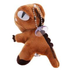 Mini Plush Dinosaur Pendant Stuffed Doll Keychain Backpack Accessories Brown