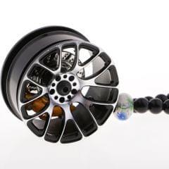 Car Ornament Pendant Metal Wheel Hub Auto Interior Hanging Decoration Black