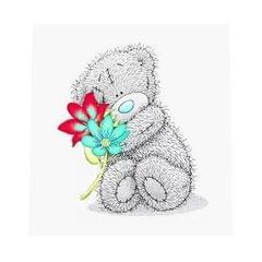 DIY 5D Bear Diamond Painting Embroidery Cross Crafts Stitch Bear Flowers