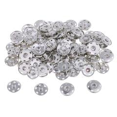 50 Sets Metal Snap Fastener Sew-On Snap Buttons for Clothing Sewing 17mm