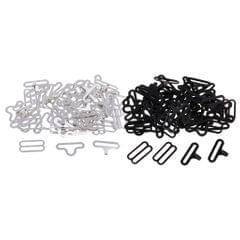 20 Sets Bow Tie Clips Metal Hooks Sewing Fasteners for Necktie Strap Black