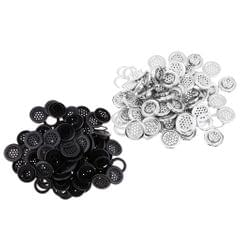 50 Sets Metal Eyelet with Washer 10mm for Luggage Clothes Accessories Silver
