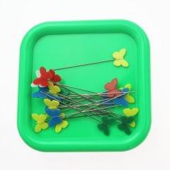 Square Magnetic Pin Cushion Pincushion Sewing Needles Organizer Green