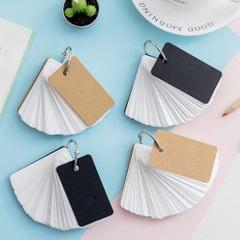 Note Card with Binder Ring Memo Pad DIY flash cards  khaki