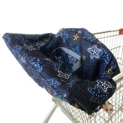 Baby Kids Shopping Cart Seat Cushion Dining Chair Cover Star