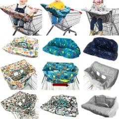 Baby Kids Shopping Cart Seat Cushion Dining Chair Cover Blue dot
