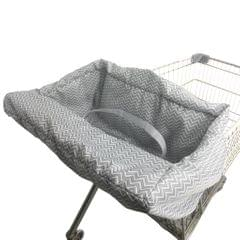 Baby Kids Shopping Cart Seat Cushion Dining Chair Cover Gray wave