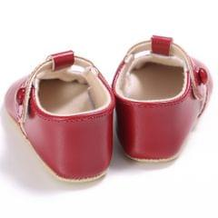 Baby Girl Leather Shoes Toddle Anti-slip Prewalker Sandals 12-18M Red