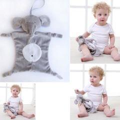 Soft Stuffed Animal Plush Blanket Baby Security Blankie Style 1-Elephant