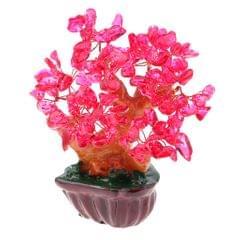 Mini Crystal Money Tree Bonsai Style Feng Shui Bring Wealth & Luck #3