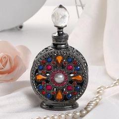 Diamond-studded Vintage Refillable Perfume Bottle 15ml Craftsmanship Black
