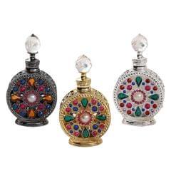 Diamond-studded Vintage Refillable Perfume Bottle 15ml Craftsmanship Gold
