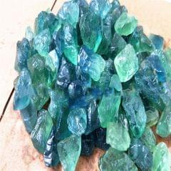 Natural Blue Green Fluorite Perforated with Irregular Desk Ornament 25-30mm
