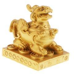Pi Xiu Feng Shui Figurine to Attract Wealth Home Decor Gold