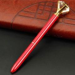 Rhinestone Ballpoint Pen High-end Metal Pen Ballpoint Pen  Red