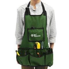 Gardening Apron Multi Pocket Gardeners Handyman Hand Tool Pouch Army Green