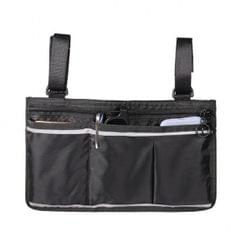 Wheelchair Side Bag Wheelchair Armrest Bag Waterproof Lightweight  Black
