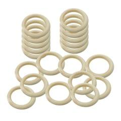 DIY Baby Wooden Teething Rings Necklace Bracelet DIY Crafts 65mm 10pcs