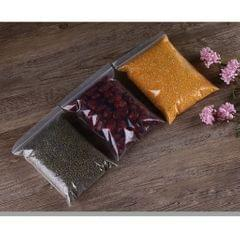 100 Pieces Clear Grip Seal Ziplock Bag Self Seal Resealable Bags 13×19cm