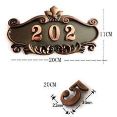 ABS Plastic Vintage Detachable Address House Number Sign Plaque Door Plate A