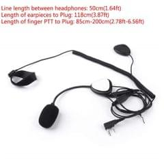 Finger PTT Motorcycle Helmet Headset with Mic for Baofeng