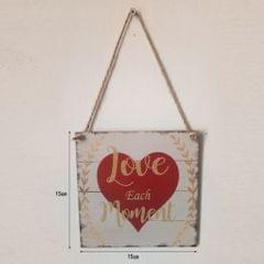 Romantic Love Each Moment Valentines Day Home Decor Wall  Hanging Wood Sign