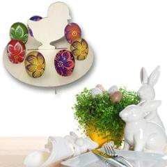 Wooden Happy Easter Chick Eggs Shelves Eggs Holder Rack DIY Home Decoration