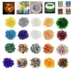 250 Pieces Vitreous Glass Mosaic Tiles for Arts DIY Crafts Yellow