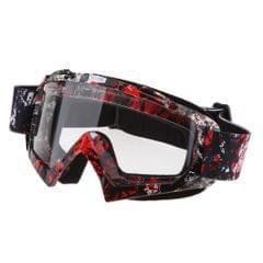 Anti Fog Motorcycle ATV Dirt Bike Racing Goggles Glasses A018 White Mirror