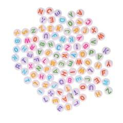 Colorful Acrylic Alphabet Letter Beads 6mm for Kids DIY Jewelry Mixed Color