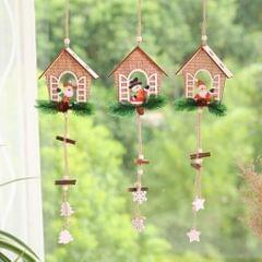 Christmas Wooden House Tree Ornament Pendant Hanging Home Decor Elk
