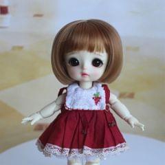 Adorable Doll Short Hair Bob Wig 1/8 BJD Doll Making Supplies Brown