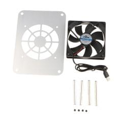 120mm 5V USB Silent Cooling Fan Fit for Router/Set-top Box Universal Silver