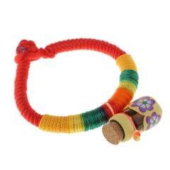 Rainbow Rope Bracelet for Kids Children Birthday Gifts Yellow