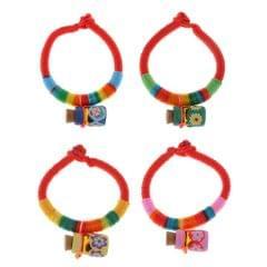 Rainbow Rope Bracelet for Kids Children Birthday Gifts Blue