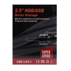 Black External Hard Drive Disk Storage Devices 2.5'' USB 3.0 2.0 SATA 2T