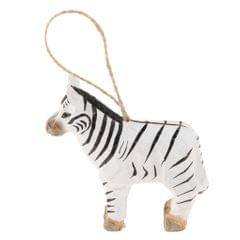 Handcarved Wooden Hanging Decoration Craft Ornament Animal Figurine Zebra