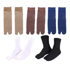 Elastic Cotton Tabi Socks 2 Toe Socks Flip-Flops Socks Unisex Blue