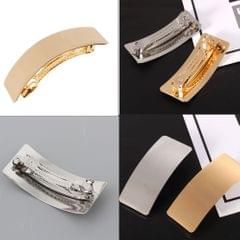 Automatic Metal French Barrette Large Hair Clip Pin Ponytail Holder Silver