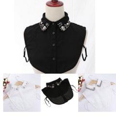 Womens Detachable Half Shirt Blouse False Collar Rhinestone Dickey Collar White 1
