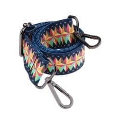 1.5in Wide Purse Strap Replacement Colorful Crossbody Bag Handbag Straps Gunmetal Hook 1
