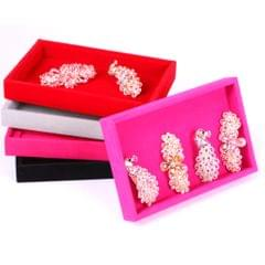 Velvet Necklace Bracelet Earring Anklet Jewelry Display Tray Case Grey