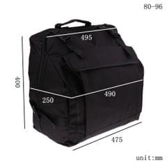 Thick Padded Bass Piano Accordion Gig Bag Accordion Case Backpack 96 Bass