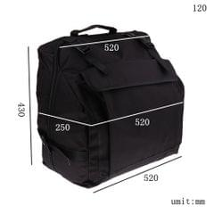 Thick Padded Bass Piano Accordion Gig Bag Accordion Case Backpack 120 Bass